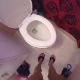 A girl records herself farting, shitting and pissing while sitting on a toilet from a POV perspective. Audible pooping sounds. Presented in 720P HD. About 3.5 minutes.